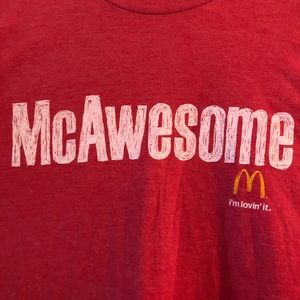 Red savvy mc awesome shirt new no tags